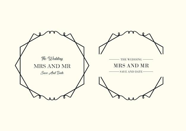 Bloemen bruiloft minimalistische sjablooncollectie