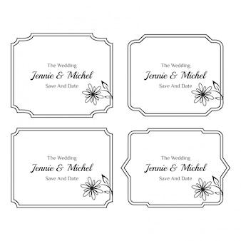 Bloemen bruiloft uitnodiging sjablonen collectie