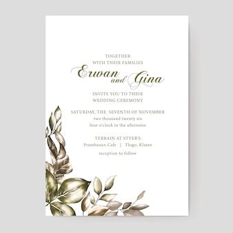 Bloemen bruiloft uitnodiging sjabloon kaart ontwerp