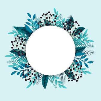 Bloemen cirkelgrens