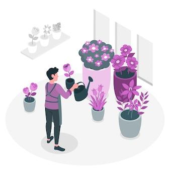 Bloemen concept illustratie