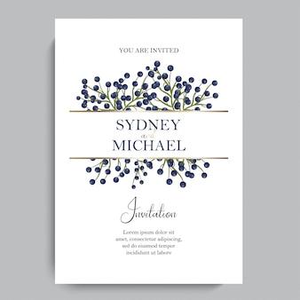 Bloemen elegante huwelijksuitnodiging uitnodigen kaart