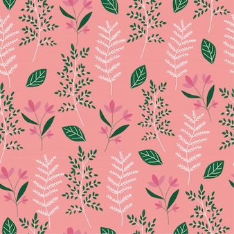 Bloemen en blad patroon achtergrond