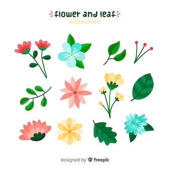Bloemen en bladeren collectio