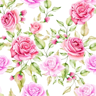 Bloemen en bladeren naadloze patroon
