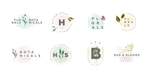 Bloemen- en botanische logo's