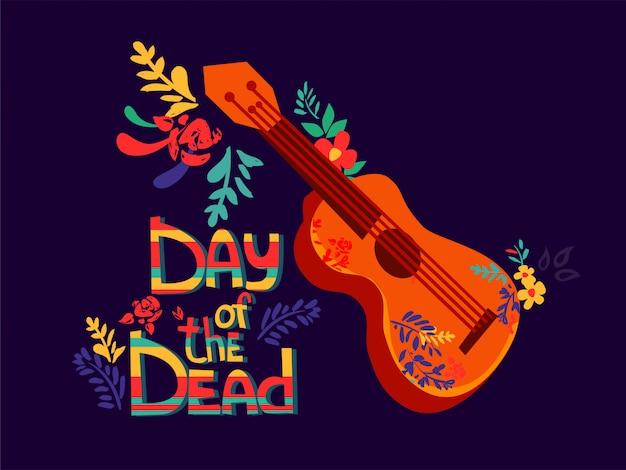 Bloemen en gitaar