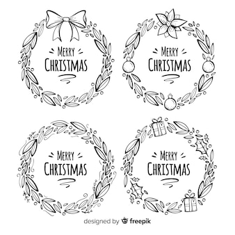 Bloemen- en kranscollectie voor kerstmis