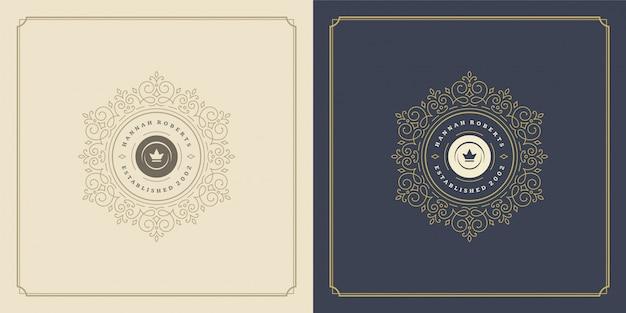 Bloemen- en sier abstract logo