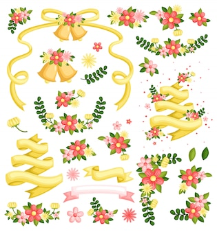 Bloemen en spandoeken
