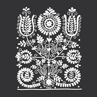 Bloemen folk ornament