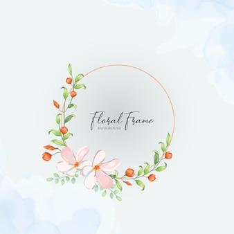 Bloemen frame bruiloft uitnodigingskaart