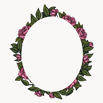 Bloemen frame. lente gebladerte samenstelling, bloem krans cirkel arrangement.