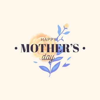 Bloemen gelukkige moederdag en mooie roos