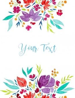 Bloemen geschilderd in aquarel