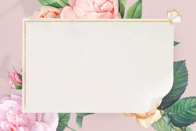 Bloemen gouden frame achtergrond