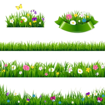 Bloemen grenzen grote reeks