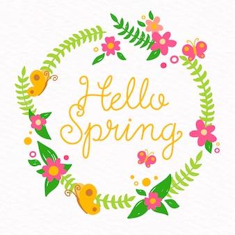 Bloemen hallo lente achtergrond