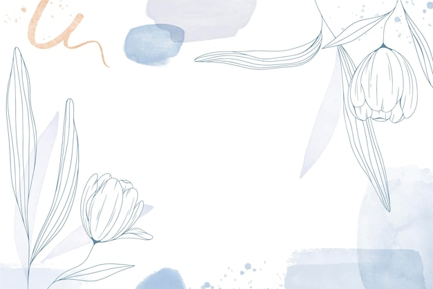 Bloemen hand getekende achtergrond