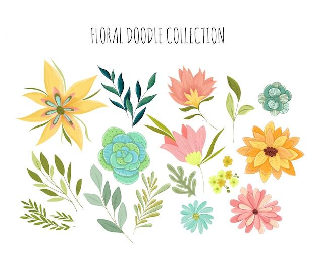 Bloemen illustratie collectie
