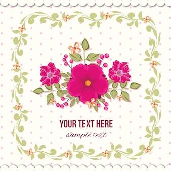 Bloemen illustratie met frame