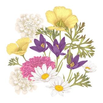 Bloemen illustratie.