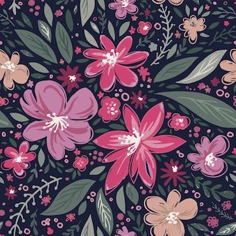 Bloemen in bloei lente of zomer boeket vector