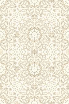 Bloemen indisch naadloos patroon met bloem en bladornament