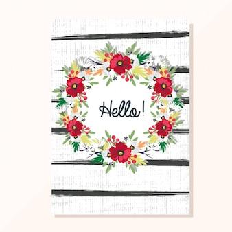 Bloemen kaart uitnodiging