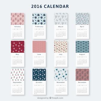 Bloemen kalender