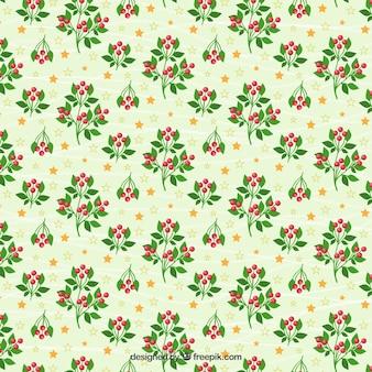 Bloemen kerst patroon