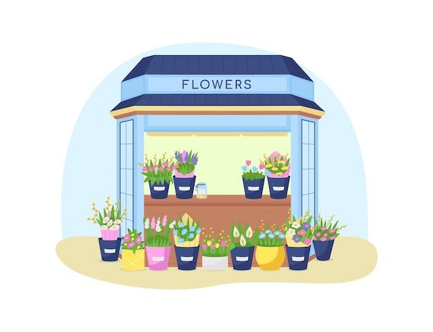 Bloemen kiosk illustratie