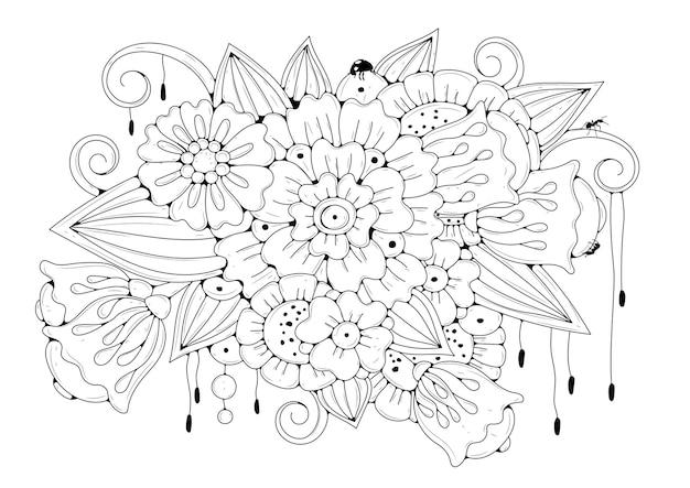 Bloemen kleurplaat