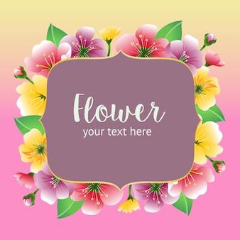 Bloemen kleurrijke kaart