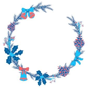 Bloemen krans van kerstmis