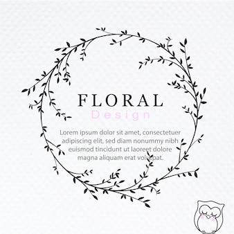 Bloemen kransontwerp