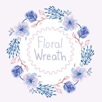 Bloemen kroon achtergrond ontwerp