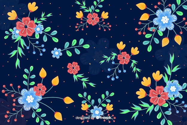 Bloemen kunstwerk als achtergrond