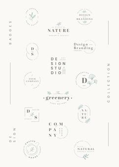 Bloemen logo-collectie