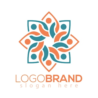 Bloemen logo sjabloon