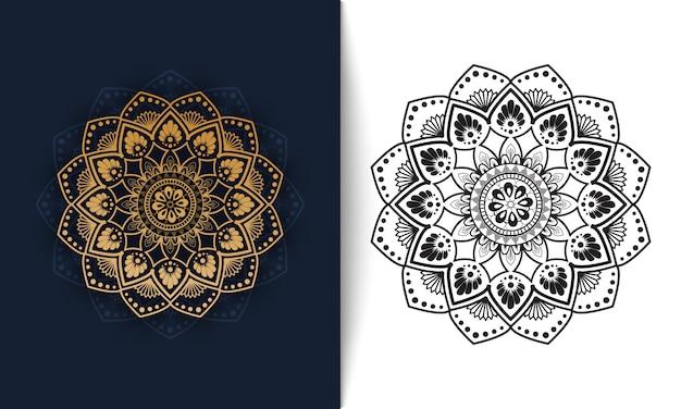 Bloemen mandala, luxe ornament vectorillustratie