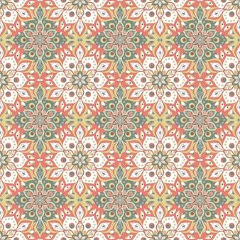 Bloemen mandala naadloze patroon