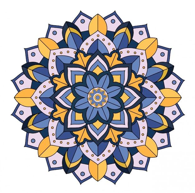 Bloemen mandala op wit