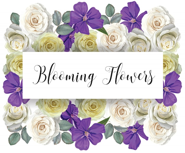 Bloemen met banner