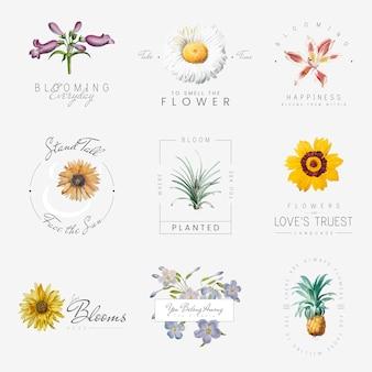 Bloemen met citaten