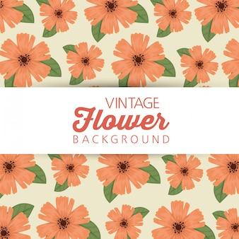 Bloemen met natual bloemblaadjes en bladerenachtergrond