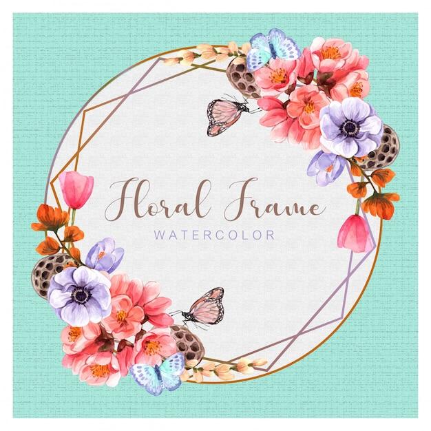 Bloemen met waterverf het schilderen ontwerp, illustratie, achtergrond