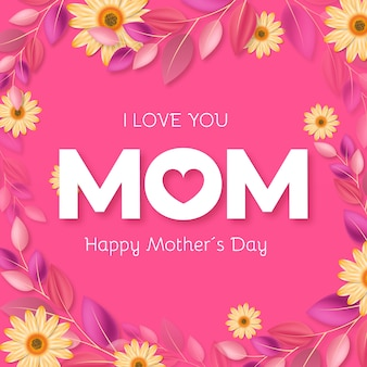 Bloemen moederdagthema