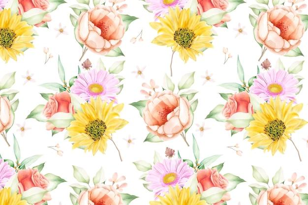 Bloemen naadloos patroon bloemen bloeien