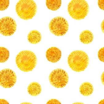 Bloemen naadloos patroon met wilde paardebloem